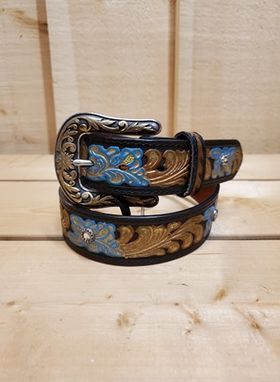 Blue and Gold Women's Belt by Nocona