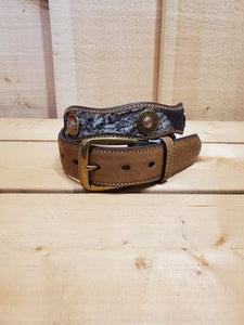 12 Gauge Scalloped Men's Belt by Nocona