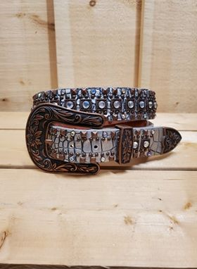 Studs and Sparkle Women's Belt by Nocona