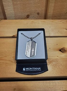 Cowboy's Strength Prayer Necklace by Montana Silversmiths