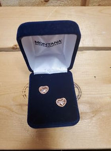 Rose Gold Heart Earrings by Montana Silversmiths