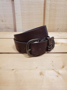 Chocolate Top Grain Leather Men's Belt by Jusin