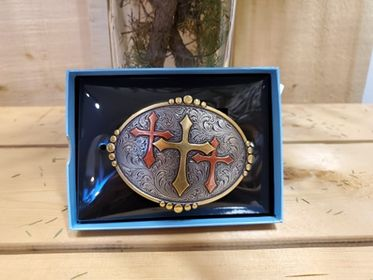 Triple Cross Buckle by Nocona
