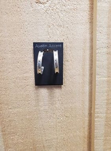 Engraved Open Hoop Earrings by Austin Accents