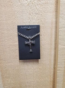 Bull Rider Cross Necklace by Austin Accents
