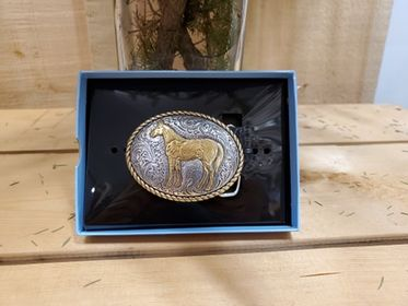 Small Oval Horse Buckle by Nocona