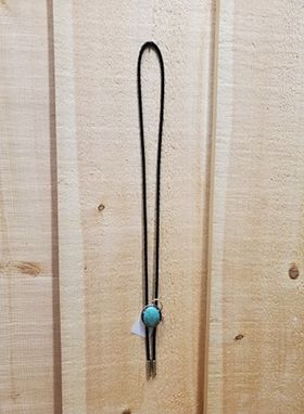 Teal Oval Stone Bolo Tie