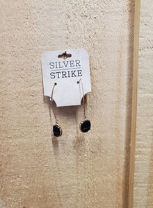 "Sparkling ""Coal"" Earrings by Silver Strike"