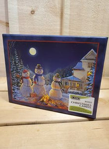 """Moonlit Snowmen"" Christmas Cards by Lang"