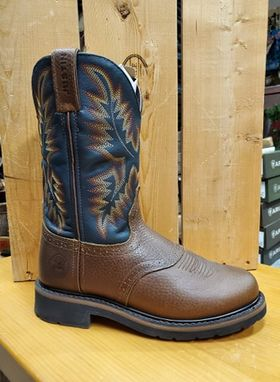 Round Toe Men's Work Boot by Justin