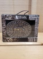 Attitude Laced Bison Buckle by Montana Silversmiths