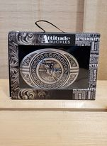 Attitude Clean Finish Bull Rider Buckle by Montana Silversmiths