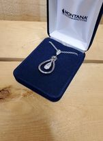 Celtic Knot Tear Drop Necklace by Montana Silversmiths