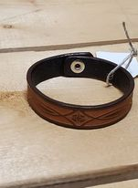 Stamped Leather Bracelet by Austin Accents