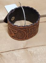 Tooled Leather Cuff Bracelet by Austin Accents