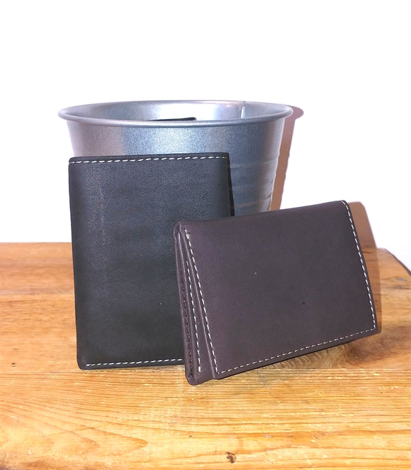 Tri-Fold Leather Wallets