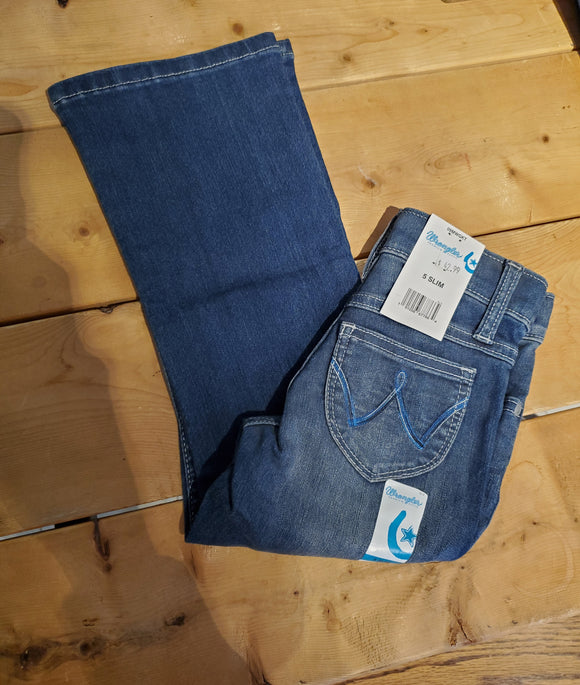 Low Rise Premium Patch Girl's Jean by Wrangler