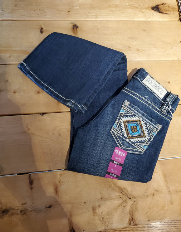 Boot Cut Girl's Jean by Rock & Roll Cowgirl