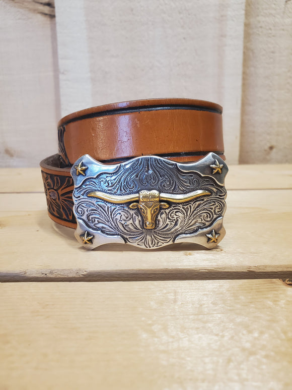 Customizable Longhorn Youth Belt by Tony Lama