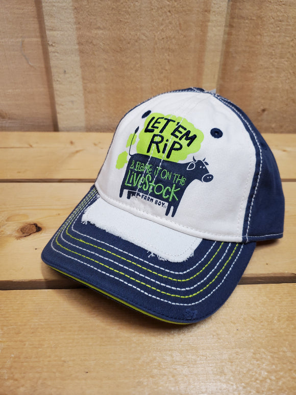 'Blame It On The Livestock' Toddler Cap by Farm Boy