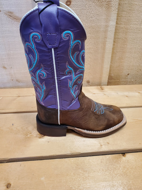 Purple & Teal Girl's Cowboy Boot by Old West