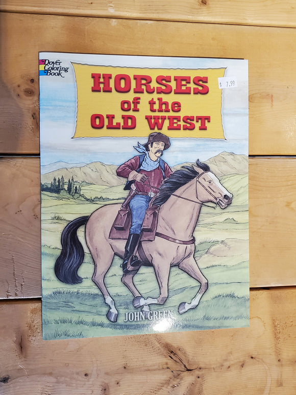 'Horses of the Old West' Coloring Book