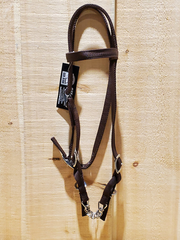 Nylon Pony Bridle With Tom Thumb Bit