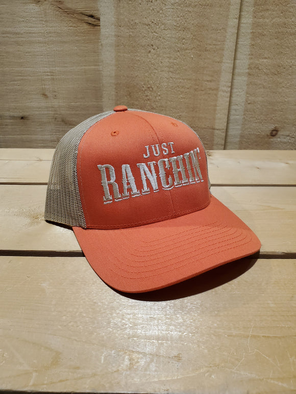 'Just Ranchin'' Rust Mesh Back Cap by Dale Brisby™