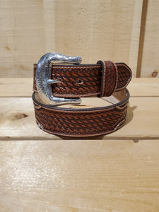 'Jacinto' Tooled Leather Men's Belt by Justin