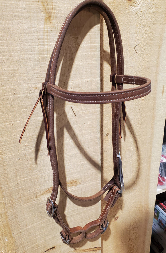 Quick Change Oiled Harness Leather Browband Headstall by Weaver®