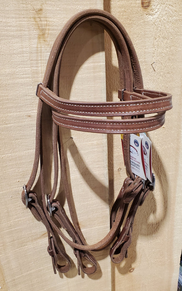 Quick Change Single Ply Harness Leather Browband Headstall by Weaver®