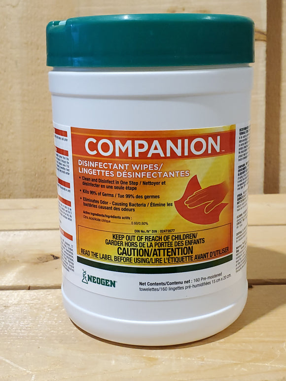 Companion™ Disinfectant Wipes by Neogen®