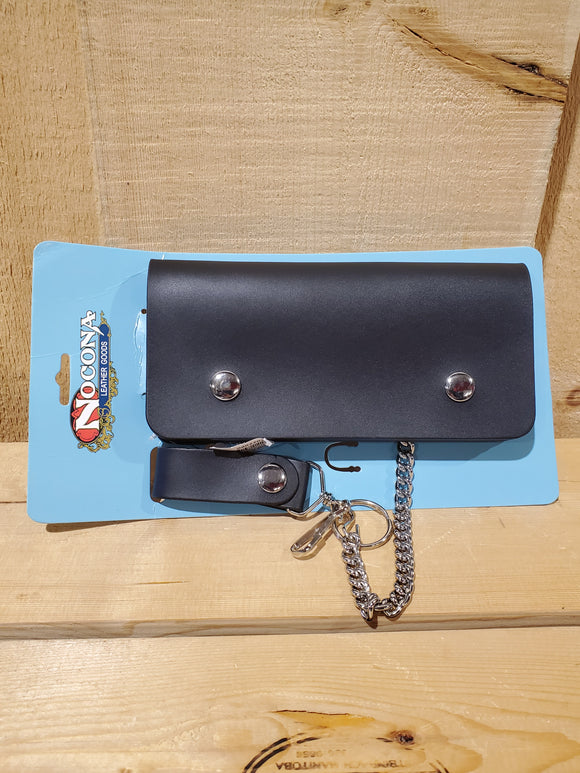 Leather Wallet With Pocket Chain by Nocona®