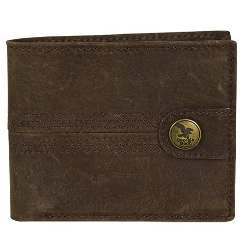 Chocolate Suede Bi Fold Wallet by Georgia Boot®