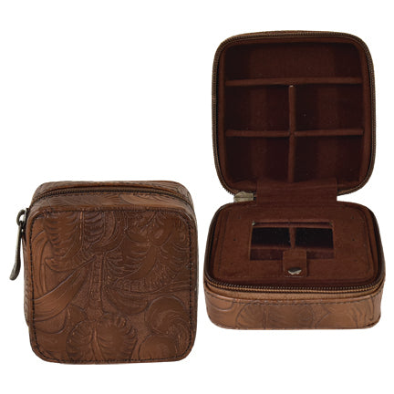 'Tooled' Travel Jewelry Box by Justin®