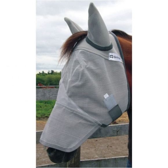 Natural Fit Breakaway Full Face Fly Mask With Ears by Canadian Horsewear Co.®