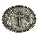 Attitude Floral Cross Buckle by Montana Silversmiths