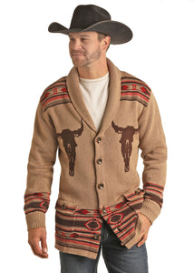 Steerhead Men's Sweater by Rock and Roll Cowboy