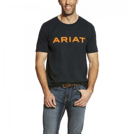 Navy Logo Men's T-Shirt by Ariat