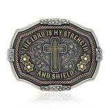 "Attitude ""The Lord is My Strength and Shield"" Buckle by Montana Silversmiths"