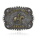 "Attitude ""Riding for the Brand"" Buckle by Montana Silversmiths"