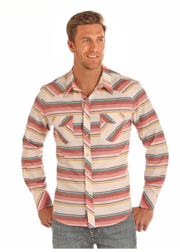 Sunset Men's Shirt by Rock and Roll Cowboy