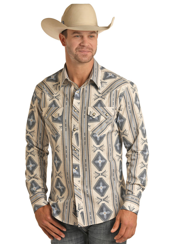 Aztec Retro Men's Shirt by Rock and Roll Denim