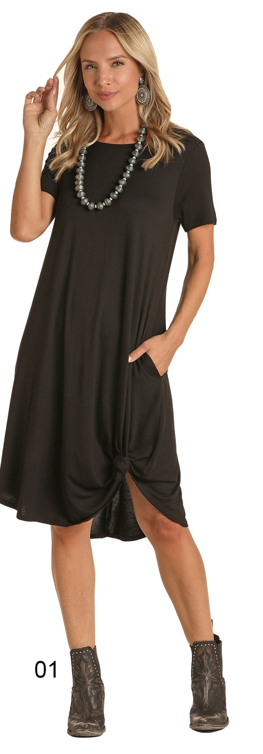 Black Women's T-Shirt Dress by Panhandle Slim