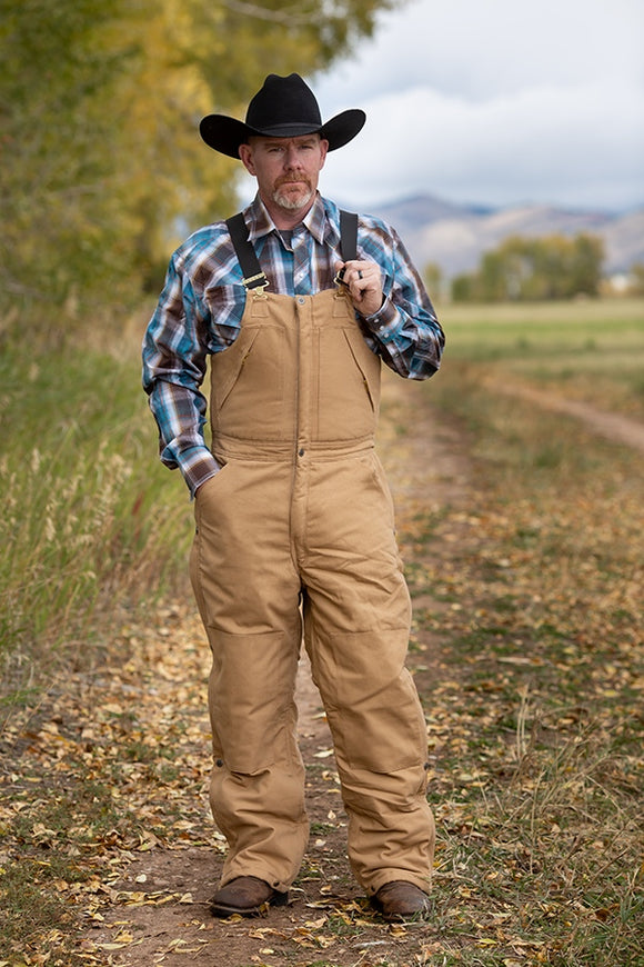 Quilted Canvas Bib Overalls by Wyoming Traders