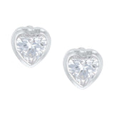 Tiny Heart Crystal Post Earrings by Montana Silversmiths