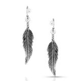 Antiqued Feather Earrings by Montana Silversmiths
