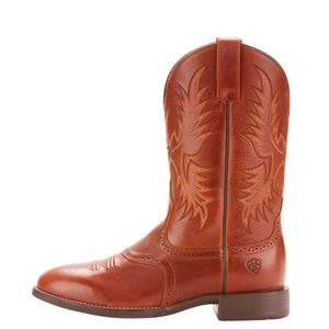 Red Brown Heritage Sockman Men's Boot by Ariat