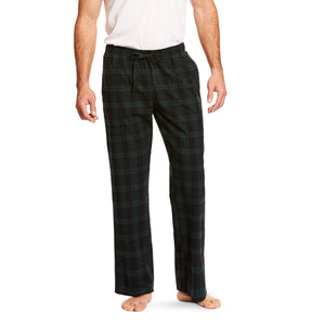 Black Watch Plaid Flannel Men's Pajama Pants by Ariat