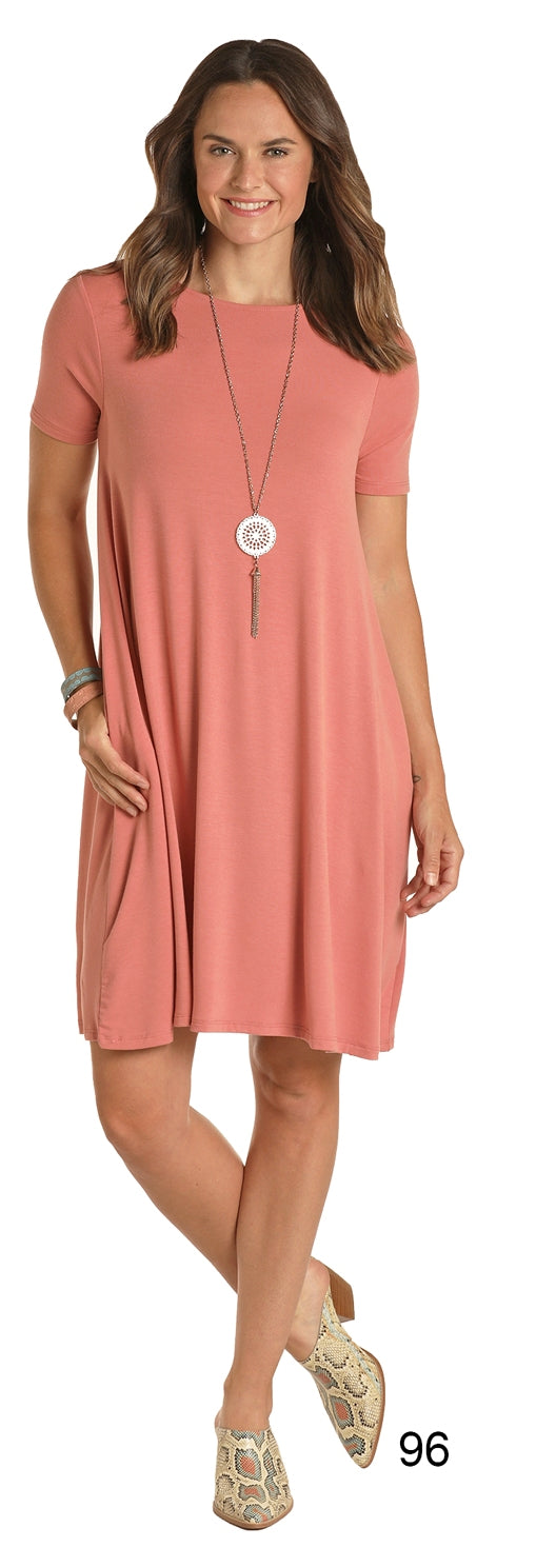 Coral Women's T-Shirt Dress by Panhandle Slim